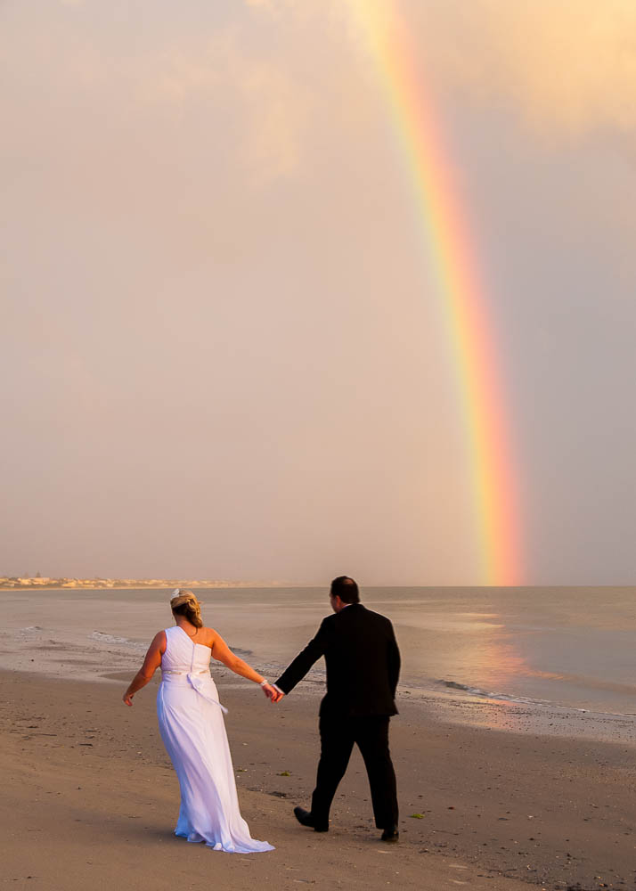 Timing and a brave bride meant we got this rainbow shot