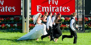 Emily and David, Flemington Racecourse Wedding