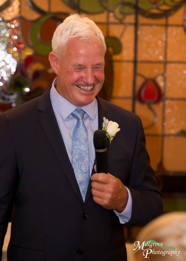 Dad giving speech at wedding -  - at The Gables
