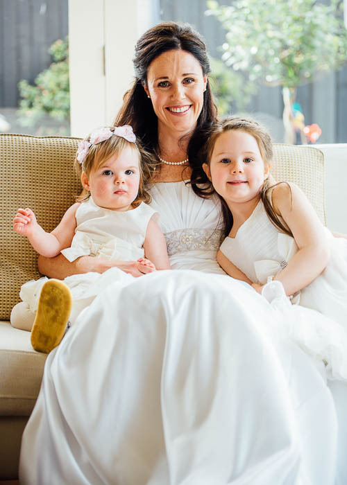2 Bride Alison and her beautiful girls
