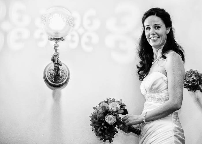 34 Bride Alison with a light beside her