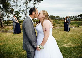 Bride and groom Geelong wedding