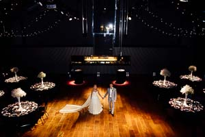Kate and Jason's modern Melbourne wedding at Maia Docklands and The Dome @ 333 Collins