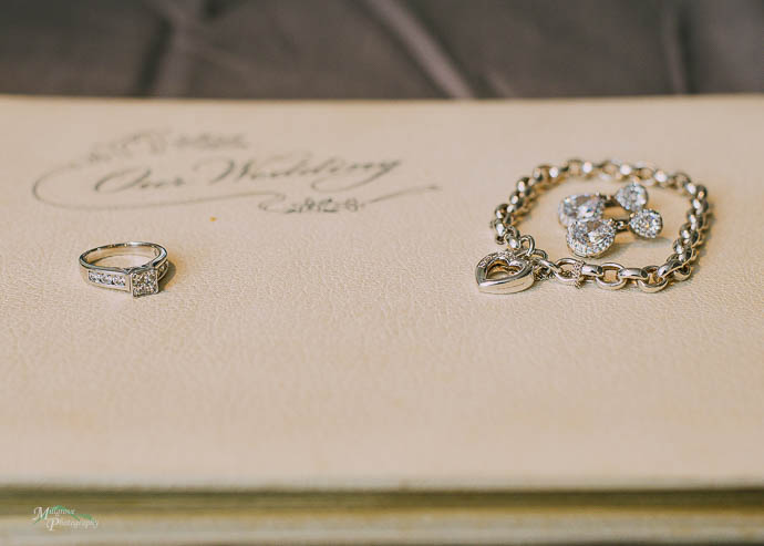 Jewellery on old wedding album