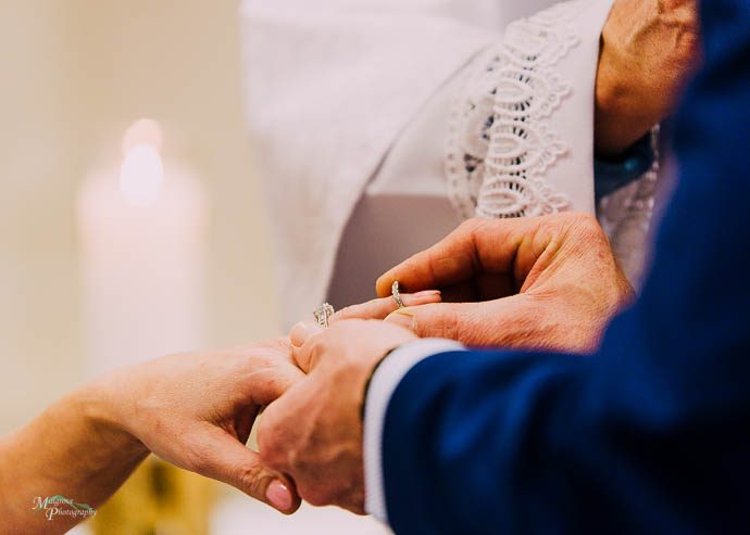 Exchanging rings at St Patrick's Church Lilydale
