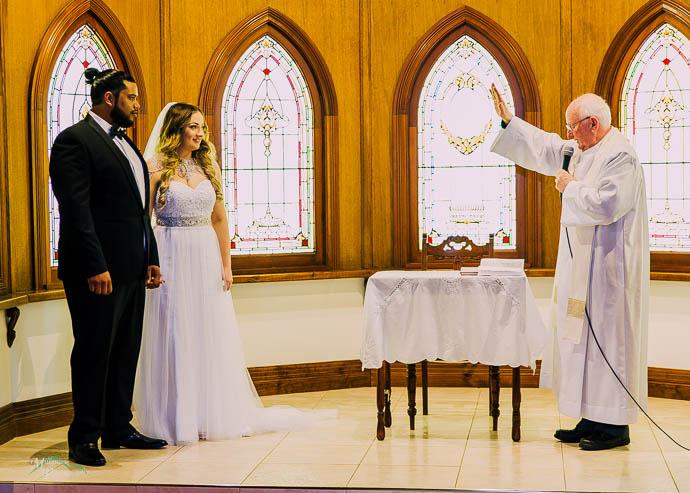 Wedding reception in the chapel at Ballara Receptions