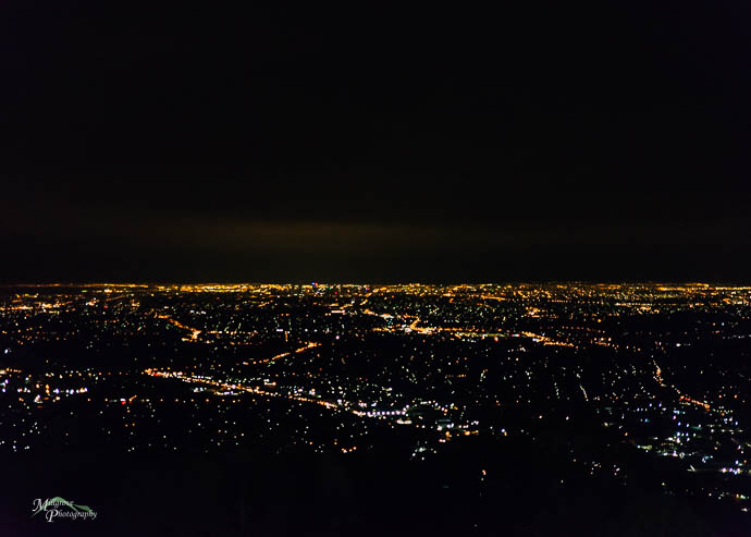 The lights of Melbourne from Wedding reception at Sky High Mount Dandenong