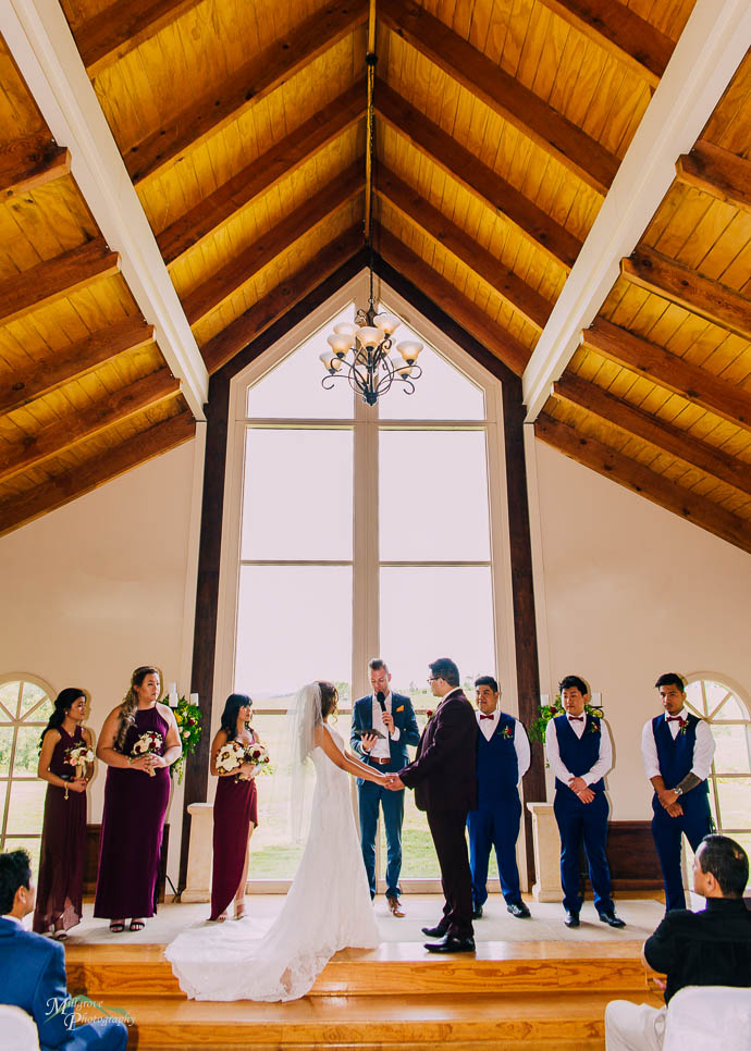 Wedding ceremony at Immerse Winery, Yarra Valley
