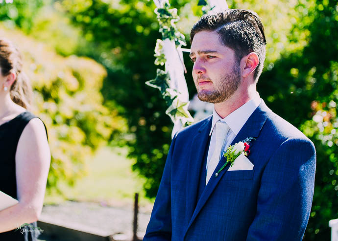 Groom waiting for the Bride at Warburton Golf Club