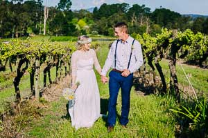 Meagan and Grant's awesome Yarra Valley winery wedding at Two Brookes' Bistro, Seville