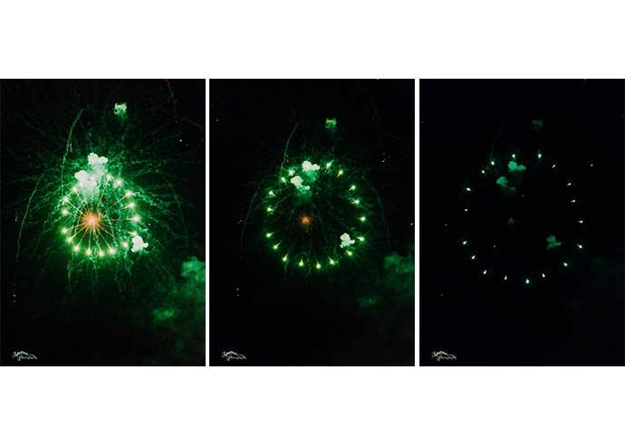 Firework in 3 frames