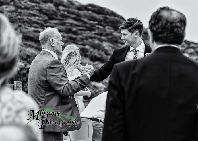 A wedding ceremony above the beach at All Smiles Sorrento