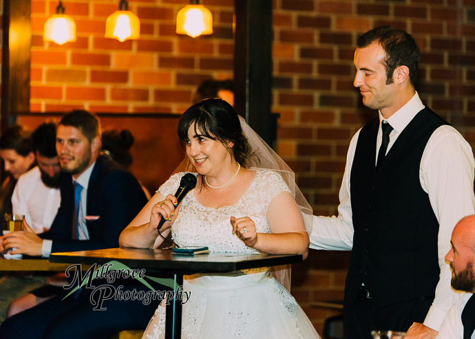 Guests celebrating at a wedding reception