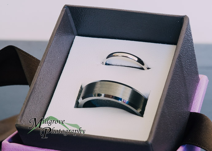 Wedding rings in a presentation box