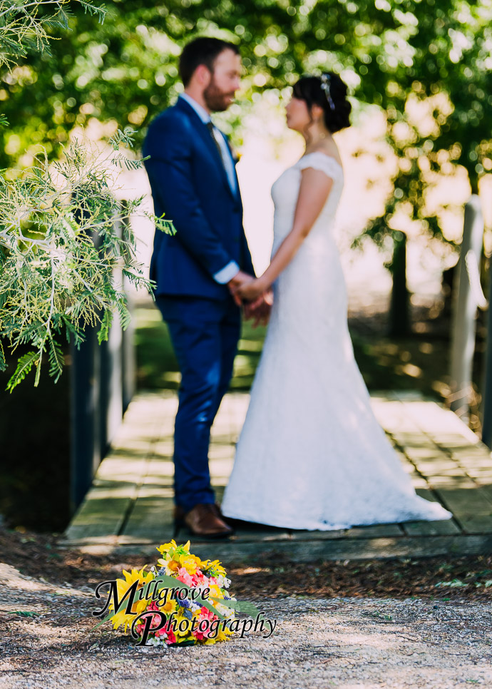 Portrait of a bride and groom
