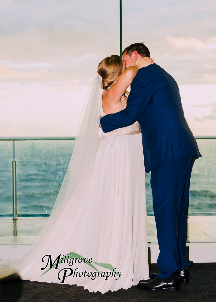 Wedding ceremony in the function room at Sandringham Yacht Club