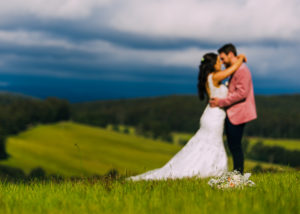 Bec and Dave's first-look and wedding at Forest Edge, Gembrook