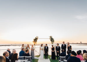 Celeste and Derek's stunning sunset celebration at the Royal Melbourne Yacht Squadron, St Kilda