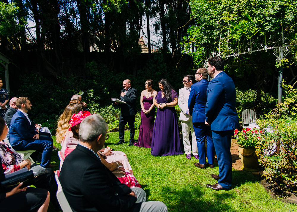 A garden wedding in Melbourne, at The Gables in Malvern