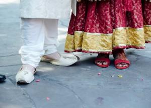 Traditional Pakistan wedding shoes