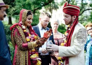 Bride burning letter ceremony