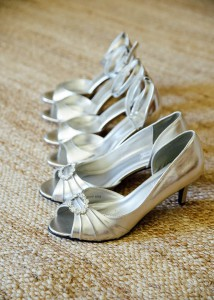 Bride and bridesmaids shoes, wedding shoes