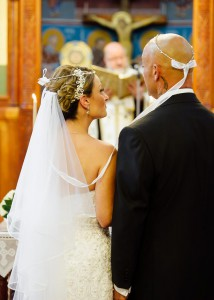 Wedding inside Greek church St Johns, Lygon St, Carlton North