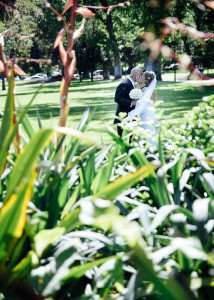 Bride and groom, Fitzroy Gardens