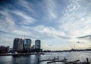 View from the function room at Berth Docklands