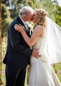 13-glen-erin-lancefield-wedding-first-kiss