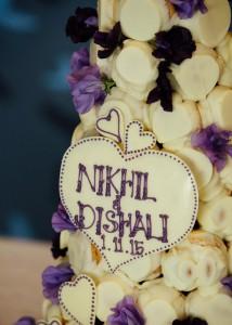 Wedding cake name plate