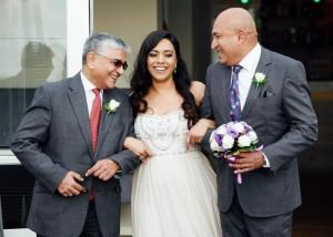 A surprised bride
