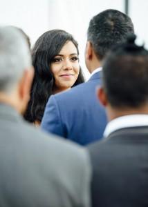 Bride during wedding vows