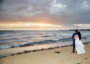 Williamstown wedding beach sunset