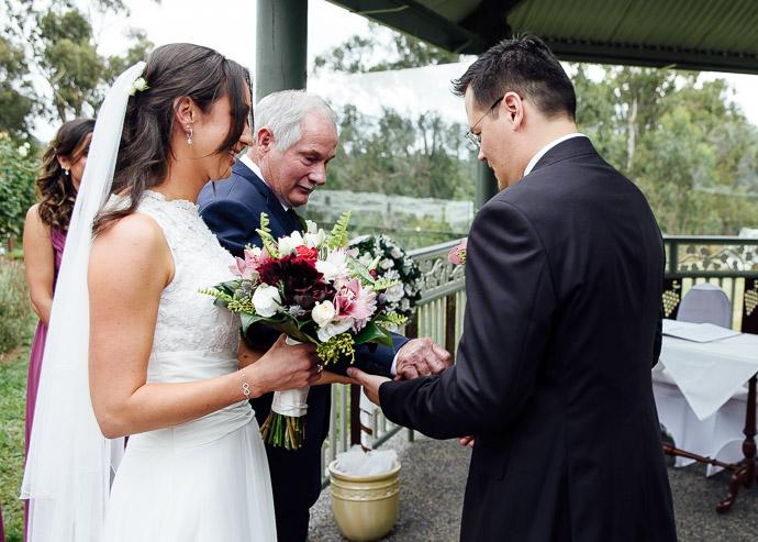 Wedding ceremony at Wild Cattle Creek