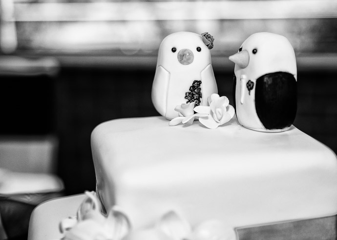 Cute penguin wedding cake topper