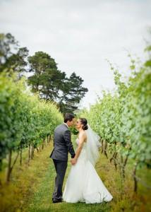 46-Wild-Bride and groom in vineyard wedding, Yarra Valley-Creek-Wedding