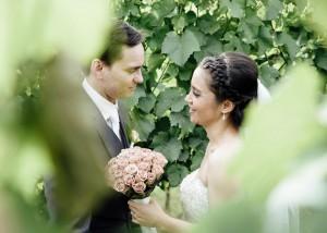 49-Wild-Bride and groom in vineyard wedding, Yarra Valley-Creek-Wedding