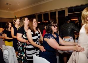 Conga at wedding reception, Yarra Valley