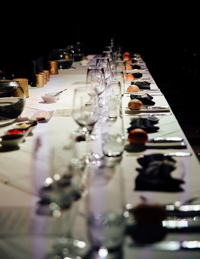 Long head table at Maia, Docklands