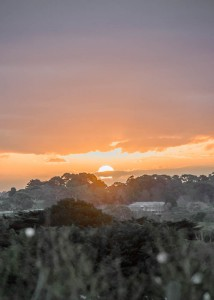 Sunset over the Mornington Peninsula