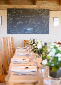 Table setting at Jones Road Winery