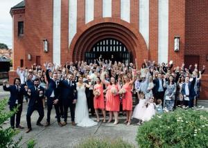 Group photo outside Church