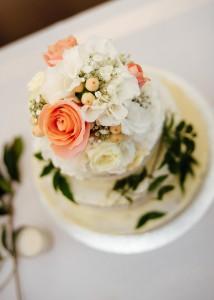 High shot of wedding cake
