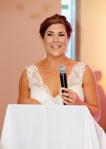 Bridal party and parents givine speeches at Melbourne wedding