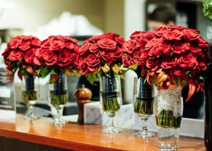 Roses at Immerse winery wedding