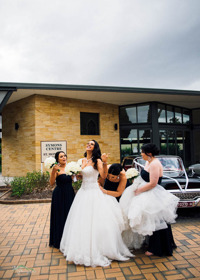 Wedding images from St Monica's, Moonee Ponds