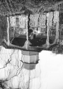 ballara-gazebo-reflection-black-white-wedding