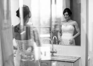 bride-checking-in-mirror